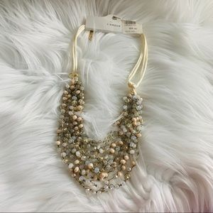 NEW Crystal gem layered necklace